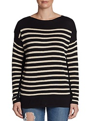 Sweet Romeo Striped Pullover Grey Red