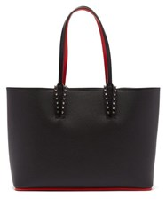 Christian Louboutin Cabata Small Spike Embellished Leather Tote Black