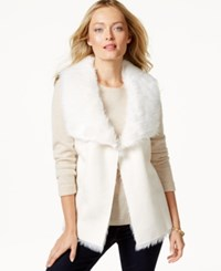 Charter Club Faux Fur Vest Only At Macy's Cloud