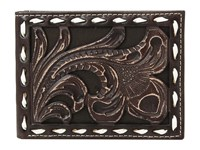 Ariat Floral Embossed With Buckstitch Lace Bifold Wallet Brown Wallet Handbags