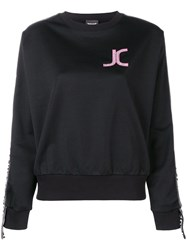 Just Cavalli Logo Patch Sweatshirt Black