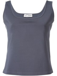Dolce And Gabbana Vintage Square Neck Tank Grey