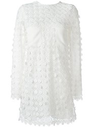 Carven Longsleeved Short Dress White