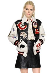 Coach 1941 Wool And Leather Varsity Bomber W Patches