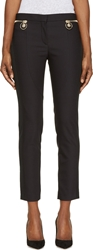 Versace Black Zipped Riding Pants