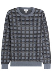 Brioni Printed Pullover With Cashmere And Silk Multicolor