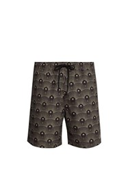 Saturdays Nyc Timothy Art Deco Print Swim Shorts Black Multi
