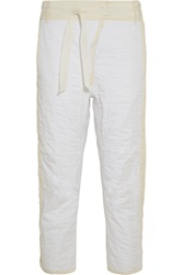 Isabel Marant Hamil Quilted Cotton Wide Leg Pants White