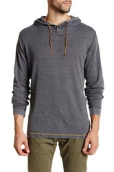 Burnside Commonwealth Thermal Pullover Hoodie Gray