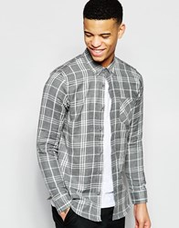 Pull And Bear Pullandbear Checked Shirt In Grey Grey