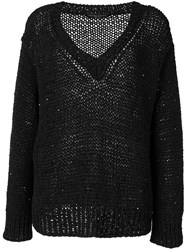 Fabiana Filippi V Neck Jumper Black