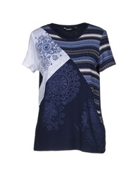Desigual T Shirts Dark Blue
