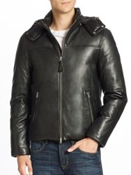 Mackage Balfour Leather Down Jacket Black