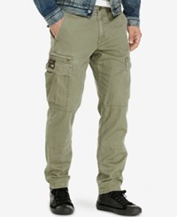 Denim And Supply Ralph Lauren Men's Slim Fit Chino Cargo Pants Olive