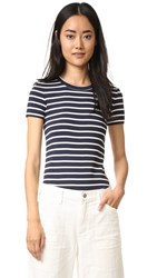 Petit Bateau 1X1 Iconic Striped Tee Smoking Coquille