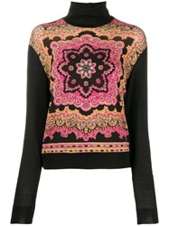 Etro All Over Print Jumper Black