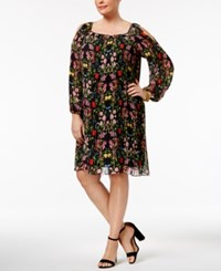Inc International Concepts Plus Size Pleated Cold Shoulder Dress Only At Macy's Twisted Garden