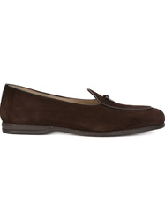 Bow Tie 'Henry' Loafers Brown