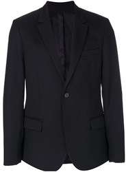 Ami Alexandre Mattiussi Two Buttons Lined Jacket Black