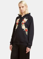 Gucci Floral Embroidered 'Fake' Hooded Sweatshirt Black
