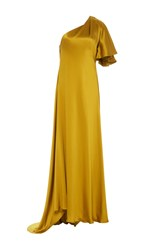 Prabal Gurung One Shoulder Gown Yellow
