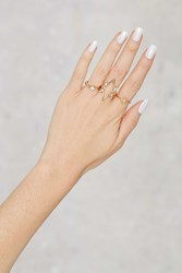 Nasty Gal Written In The Stars 3 Pc Pave Ring Set