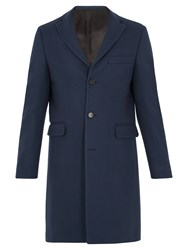Acne Studios Garret Single Breasted Wool Overcoat Blue