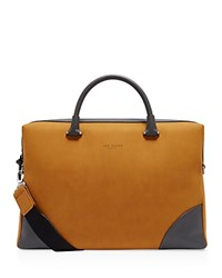 Ted Baker Matcher Nubuck Document Bag Natural