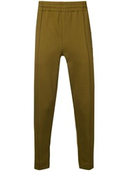 Ami Alexandre Mattiussi Trackpants With Heart Patch And Zipped Green