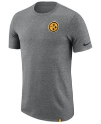 Nike Men's Pittsburgh Steelers Marled Patch T Shirt Heather Gray