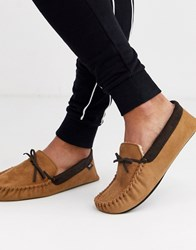 Totes Moccasin Slipper In Tan