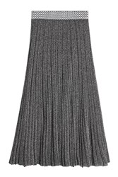 Missoni Wool Blend Metallic Midi Skirt