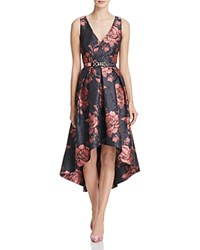 Eliza J Fit And Flare High Low Gown Black Red