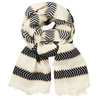 John Lewis Chevron Stripe Scarf Cream Mix