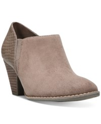 Dr. Scholl's Charlie Booties Women's Shoes Stucco Suede