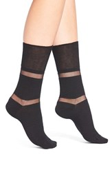 Women's Elie Tahari Shadow Stripe Ankle Socks
