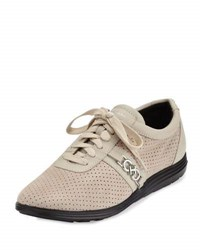Cole Haan Bria Perforated Lace Up Sneaker Rainy Day