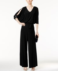 Msk Embellished Cold Shoulder Jumpsuit Black