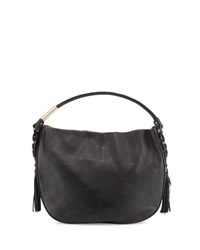 Foley Corinna La Trenza Leather Hobo Bag Black