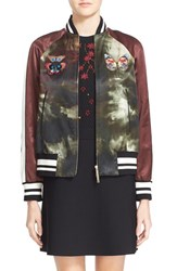 Women's Valentino Embroidered Butterfly Tie Dye Jacket