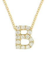 Bony Levy Women's Pave Diamond Initial Pendant Necklace Nordstrom Exclusive Yellow Gold B