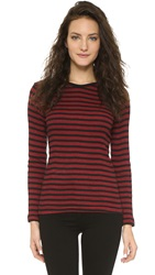 Edith A. Miller Long Sleeve Tee Black Red Track Stripe