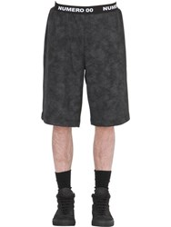 Numero 00 Marble Effect Cotton Shorts