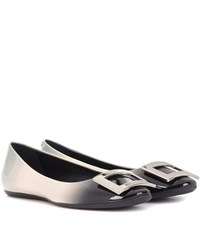 Roger Vivier Gommette Patent Leather Ballerinas Grey