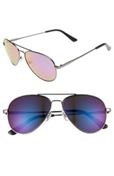 Men's 1901 Davis Aviator Sunglasses Gunmetal Purple Gunmetal Purple