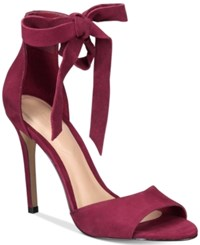 Aldo Belidda Two Piece Bow Sandals Bordeaux