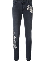 Ermanno Scervino Patch Detail Skinny Jeans Grey