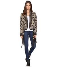 Rock And Roll Cowgirl Cardigan 46 9259 Charcoal Women's Sweater Gray
