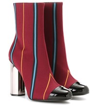 Marco De Vincenzo Fabric Ankle Boots Red