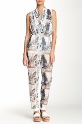 American Apparel Draped Front Jumpsuit Multi